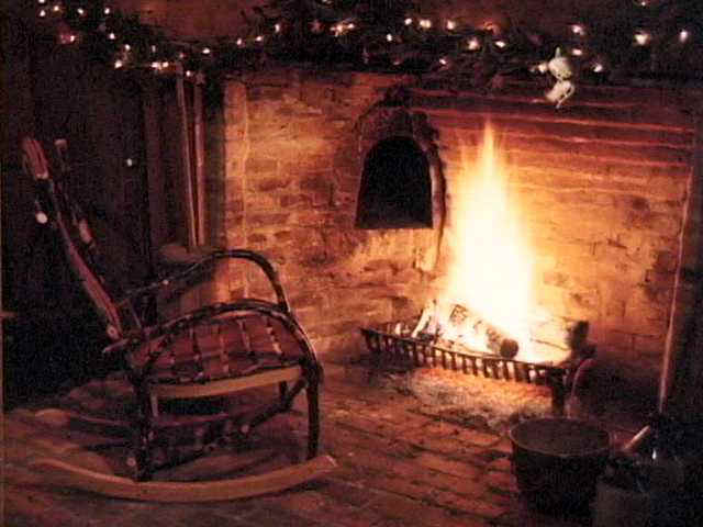 Fireplace-rocking chair enlarged